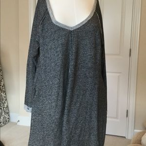 Miracle Berry cotton nylon black and grey dress